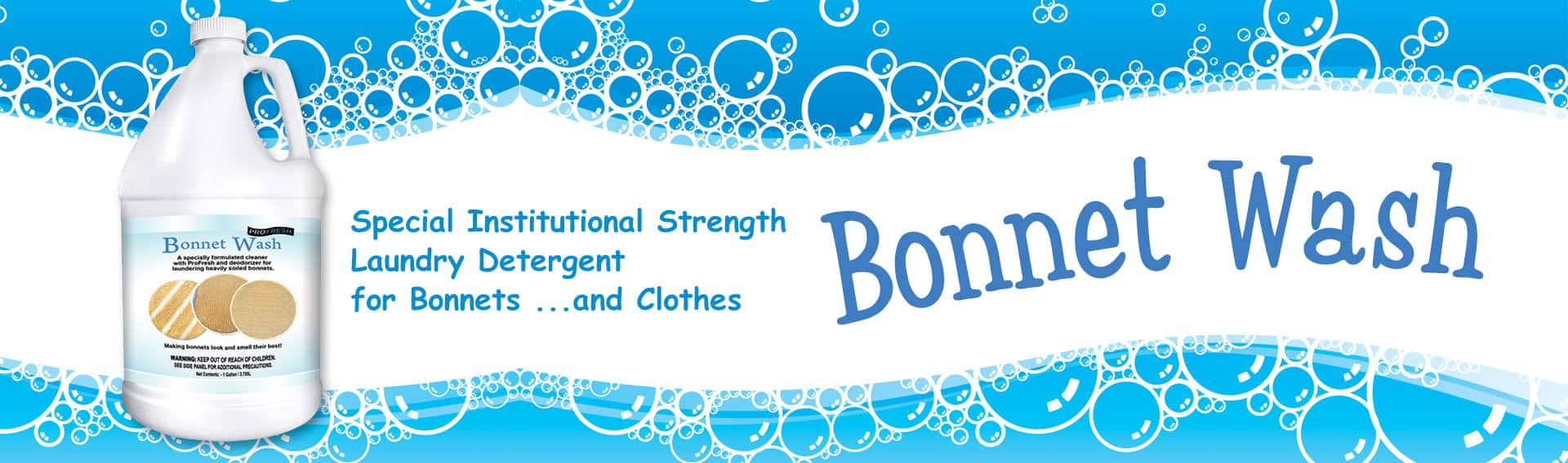 special bonnet cleaning product
